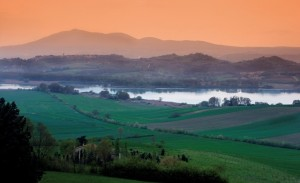 Chiusi e Cetona tramonto