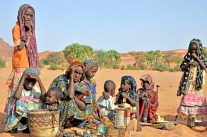 nomadi, deserto del Chad