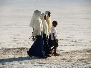 in riva all'Oceano a Zanzibar