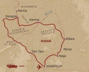 itinerario spedizione sahariana