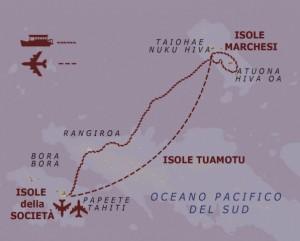 itinerario navigazione isole Marchesi