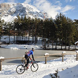 snow bike in Valtellina