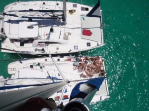 in catamarano alle Seychelles