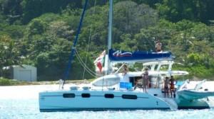 Seychelles in catamarano