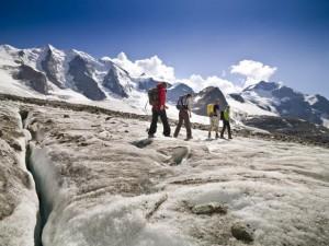 trekking sul ghiacciaio 2, credit Andrea Badrutt