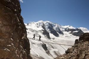 trekking sul ghiacciaio , credit Andrea Badrutt