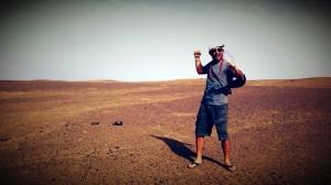Luca Abete nel deserto del Marocco