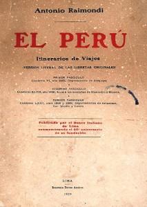 Copertina El Peru, itinerario de viajes 1929