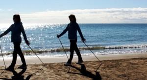 nordic walking spiaggia
